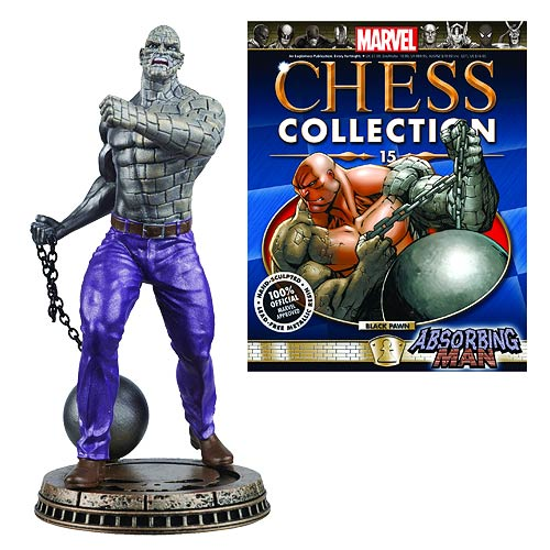 Marvel Absorbing Man Black Pawn Chess Piece with Magazine