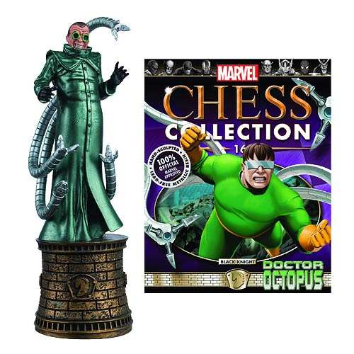 Marvel Doctor Octopus Black Knight Chess Piece with Magazine