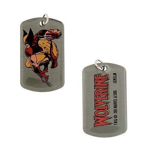 Wolverine Crouch Double Sided Dog Tag Necklace