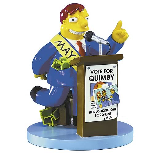 Simpsons Mayor Quimby Statue