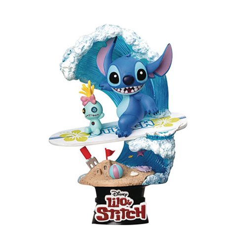 Lilo and Stitch Stitch Surf D-Stage DS-030 Statue - Previews Exclusive