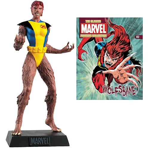Marvel Comics Wolfsbane Collector Magazine with Figure