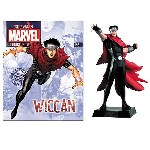 Classic Marvel Wiccan Figure with Collector Magazine
