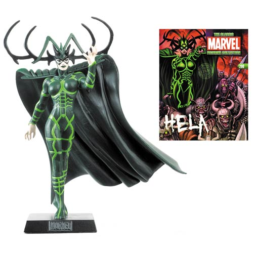 Classic Marvel Hela Figure with Magazine