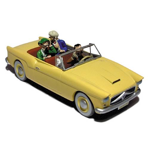 Adventures of Tintin Bordurian Car Statue