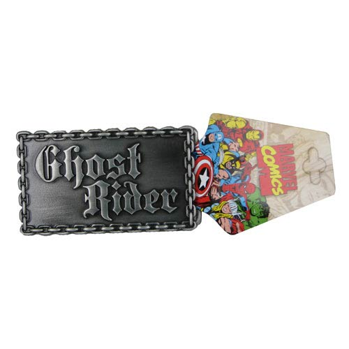 Ghost Rider Logo Rectangular Marvel Belt Buckle