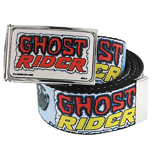 Ghost Rider Logo White Belt