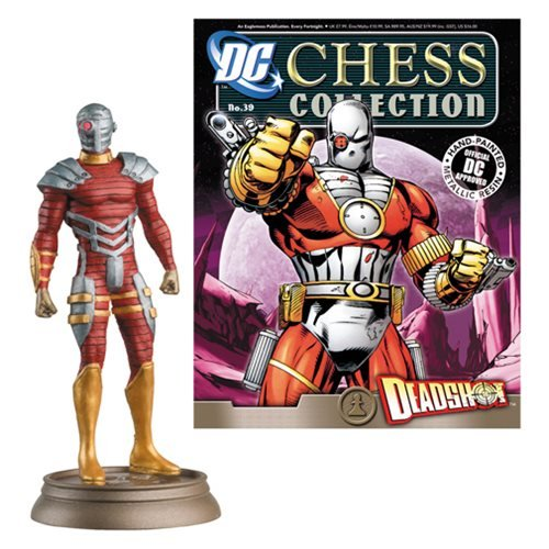 DC Superhero Deadshot Black Pawn Chess Piece & Mag