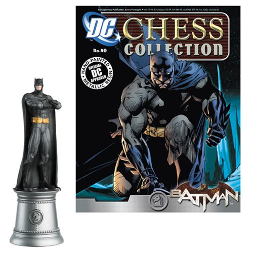 Batman White Knight Chess Piece and Collector Magazine