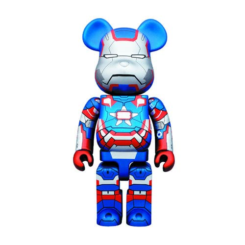 Iron Man 3 Iron Patriot 400% Bearbrick Action Figure