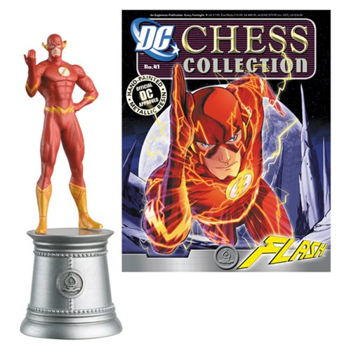 DC Superhero Flash White Bishop Chess Piece and Magazine