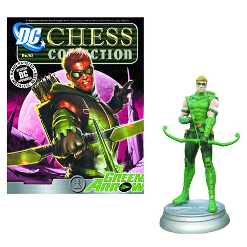 Green Arrow White Pawn Chess Piece with Magazine