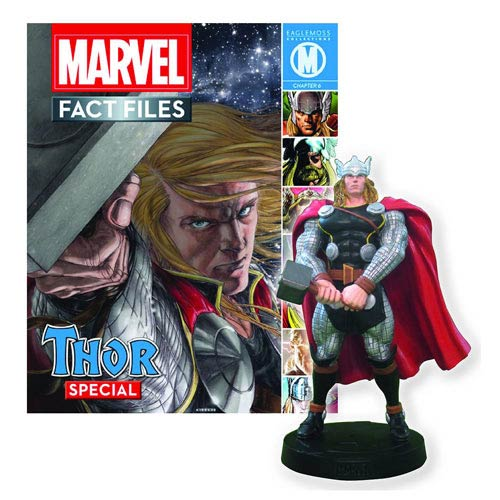 Thor Marvel Fact Files Statue with Magazine