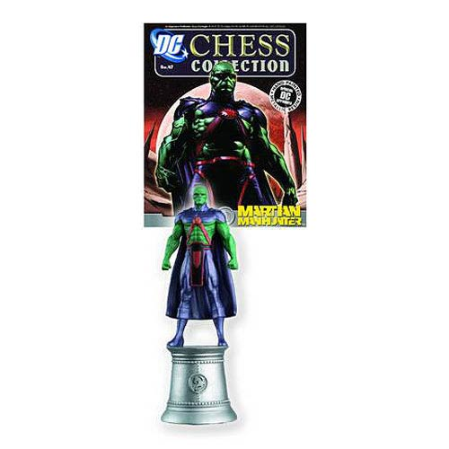 DC Superhero Martian Manhunter Chess Piece with Magazine