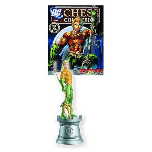 DC Superhero Aquaman Rook Chess Piece with Magazine