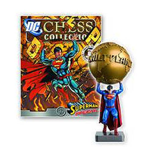 DC Superhero Superman Daily Planet Chess Piece with Magazine
