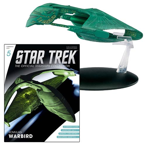 Star Trek Starships Romulan Warbird Vehicle with Magazine