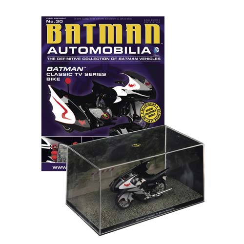Batman 1966 Classic TV Series Batcycle Vehicle with Magazine