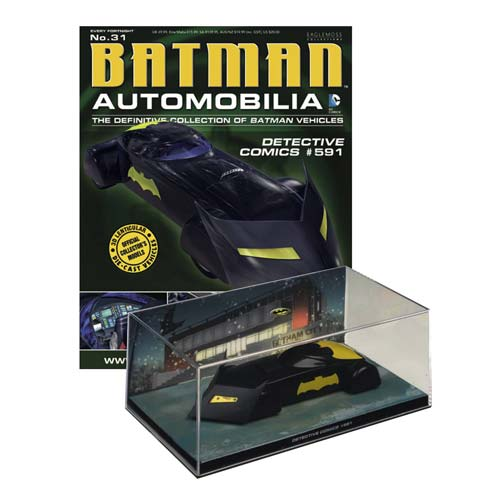 Batman Detective Comics #591 Batmobile Vehicle with Magazine