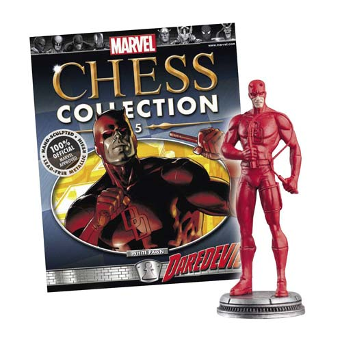 Marvel Daredevil White Pawn Chess Piece with Magazine