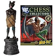 DC Superhero Man-Bat Black Rook Chess Piece with Magazine