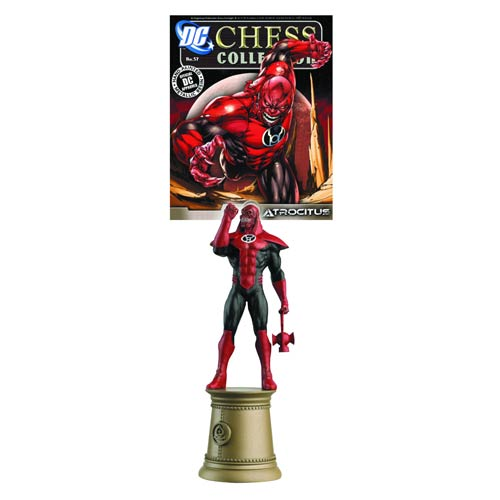 DC Superhero Atrocitus Black Bishop Chess Piece & Magazine