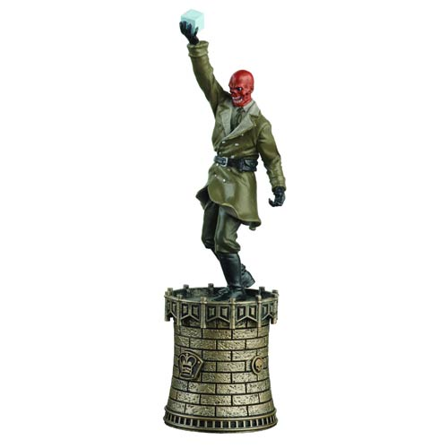 Marvel Red Skull Black King Chess Piece with Magazine