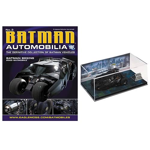 Batman Begins 2005 Batmobile Die-Cast Vehicle with Magazine