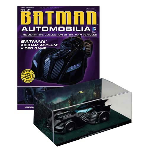Batman Arkham Asylum Batmobile Die-Cast Vehicle with Mag.