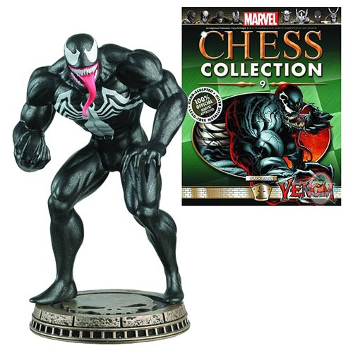 Spider-Man Venom Black Pawn Chess Piece with Magazine