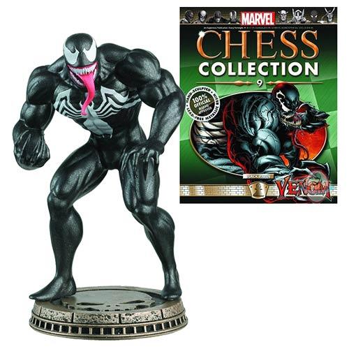 Spider-Man Venom Black Pawn Chess Piece with Magazine