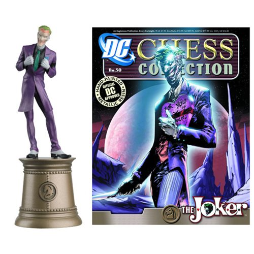 DC Superhero Joker Black Knight Chess Piece and Magazine