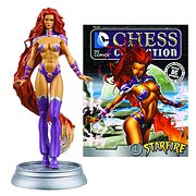 DC Superhero Starfire Black Pawn Chess Piece with Magazine