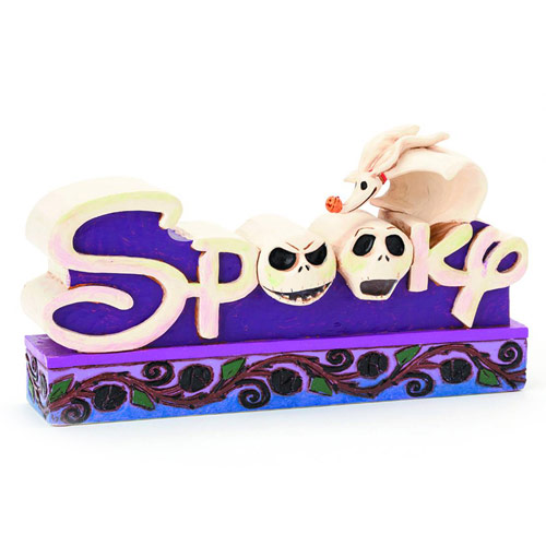 Disney Traditions NBX Spooky Word Plaque Statue