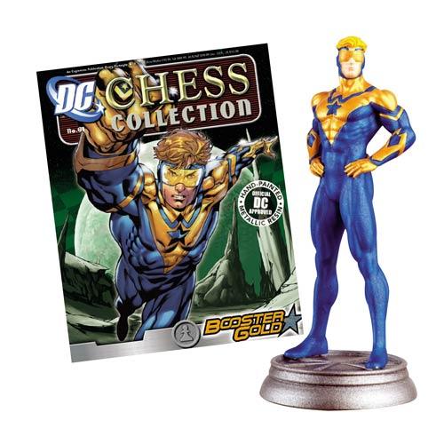 DC Superhero Booster Gold White Pawn Chess Piece w/ Magazine
