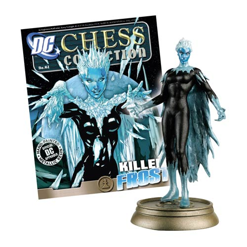DC Superhero Killer Frost Black Pawn Chess Piece w/ Magazine -  Eaglemoss Publications