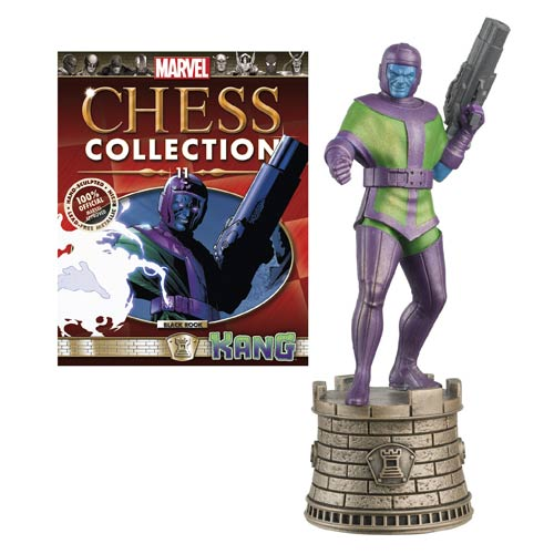 Marvel Comics Kang Black Rook Chess Piece with Magazine