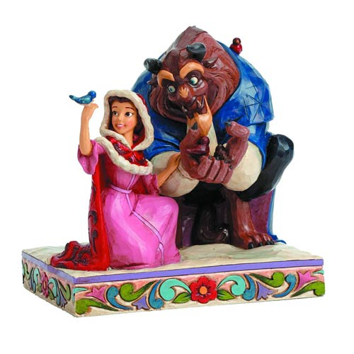 Beauty and the Beast in Winter Disney Traditions Statue