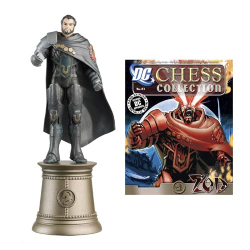 DC Superhero Zod Black Knight Chess Piece with Magazine