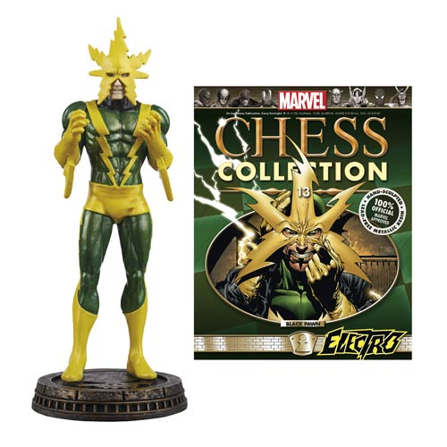 Marvel Electro Black Pawn Chess Piece with Magazine -  Eaglemoss Publications