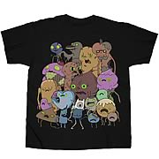 Adventure Time Zombie Group Black T-Shirt