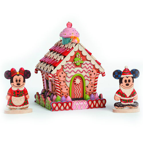 Disney Traditions Gingerbread House with Lights Statue