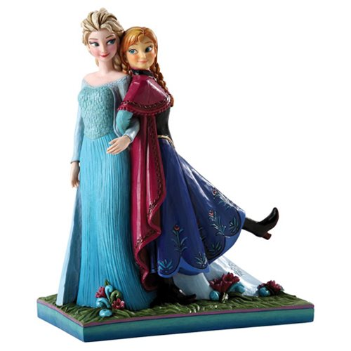 Disney Traditions Frozen Anna and Elsa Resin Statue