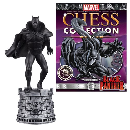 Marvel Black Panther White Rook Chess Piece & Collector Mag.
