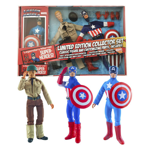 Captain America LE 8-Inch Retro Action Figure Set