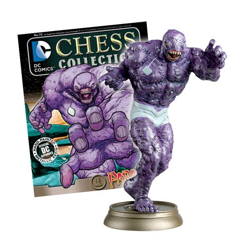 DC Superhero Parasite Black Pawn Chess Piece and Magazine