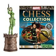 Marvel Viper Black Queen Chess Piece with Collector Magazine