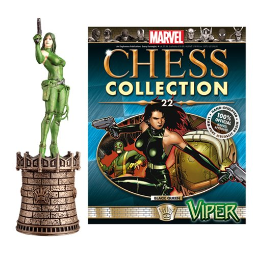 Marvel Viper Black Queen Chess Piece with Collector Magazine -  Eaglemoss Publications