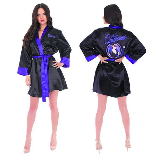 DC Bombshells Catwoman Satin Robe - Previews Exclusive