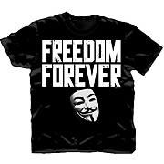 V for Vendetta Freedom Forever Black T-Shirt